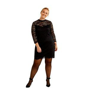Reitmans Long Sleeve Bodycon Lace Dress, XXL